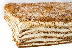 Kuchen mit Sahne. Stockfoto