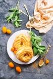 Kuchen mit Sahne Lizenzfreie Stockfotografie