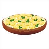 Kuchen mit Sahne und Zitrone stock abbildung