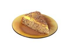 Kuchen mit Sahnebrule Lizenzfreies Stockfoto