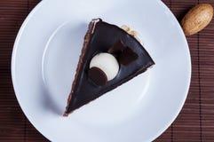 Kuchen mit Schokolade Lizenzfreie Stockfotografie