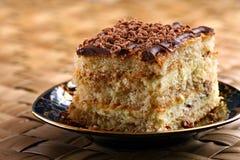 Kuchen mit Schokolade lizenzfreie stockbilder