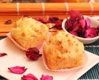 Kuchen mit Speck und Käse stockbilder