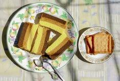 Kuchen am Morgen Stockfotografie