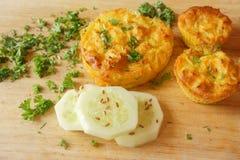 Kuchen, Muffingemüse Lizenzfreies Stockfoto