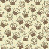 Kuchen-nahtloses Muster ENV 10 Lizenzfreies Stockfoto