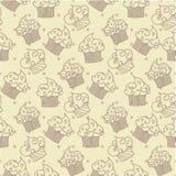 Kuchen-nahtloses Muster ENV 10 Stockfotografie