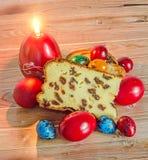 Kuchen nannten Pasca gemacht mit Käse und Rosinen, traditionelles Col. Lizenzfreies Stockbild