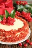 Kuchen-Rot-Samt. Lizenzfreie Stockbilder
