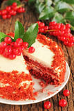 Kuchen-Rot-Samt. Lizenzfreie Stockfotografie