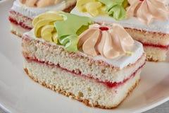 Kuchen schließen oben Stockfoto