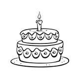 Kuchen in Schwarzweiss Lizenzfreie Stockfotos