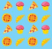 Kuchen u. Pizzamuster Lizenzfreie Stockbilder