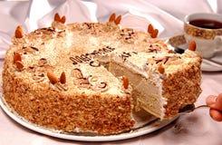 Kuchen und arabische Nahrung Lizenzfreie Stockfotos