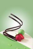 Kuchen und Erdbeere Stockfoto