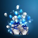 Kuchen und Geschenke Stockfoto