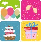 Kuchen- und Geschenkkasten Stockfotografie