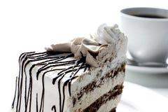 Kuchen und Kaffee lizenzfreie stockfotos