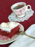 Kuchen-und Kaffee-Nachtisch Lizenzfreies Stockfoto
