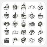 Kuchen und Nachtischsatz Stockfotos