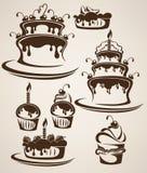 Kuchen und Süßigkeiten Stockfotos