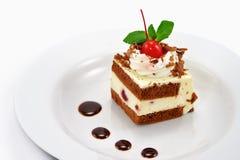 Kuchen und Schokolade stockbilder