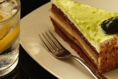 Kuchen und Soda Stockbilder