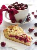 Kuchen und Tee stockbild