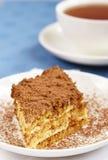Kuchen und Tee Lizenzfreie Stockfotos
