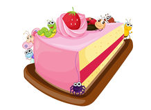 Kuchen und verschiedene Insekten Stockfotos