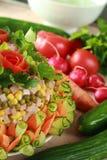 Kuchen vom Gemüse Stockfotos