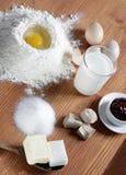 Kuchenbestandteile Stockfotos