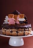 Kuchenhonigkuchen verziert mit Zahlen Lizenzfreie Stockbilder