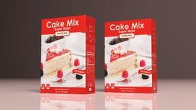 Kuchenmischungs-Papierpakete Abbildung 3D Lizenzfreies Stockbild