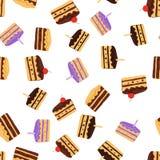Kuchenmuster Nahtloser Hintergrund Stockbilder