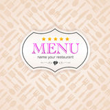Kuchenna biznesowa menu majcheru tła ikona Obrazy Royalty Free