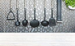 Kuchenna dekoraci i biurka przestrzeń Obrazy Royalty Free
