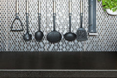 Kuchenna dekoraci i biurka przestrzeń Fotografia Royalty Free
