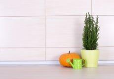 Kuchenna dekoracja na countertop zdjęcie stock