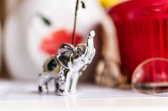 Kuchenna ornamentu srebra słonia statua Zdjęcie Royalty Free