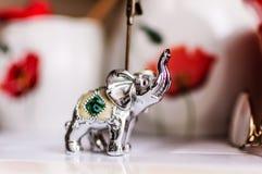 Kuchenna ornamentu srebra słonia statua Zdjęcie Stock