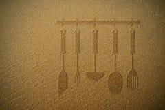 Kuchenna płaska piasek tekstura Zdjęcia Stock