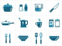 Kuchenne ikony Zdjęcie Royalty Free