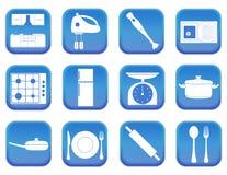Kuchenne ikony 1 Zdjęcia Royalty Free
