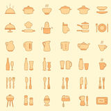 Kuchenne ikony royalty ilustracja