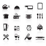 Kuchenne ikony set01 Zdjęcia Royalty Free