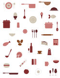 kuchenne karmowe ikony royalty ilustracja