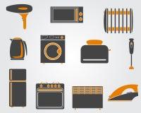 Kuchenne proste ikony Zdjęcie Royalty Free