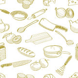 Kuchennego materiału bezszwowy wzór Obraz Stock