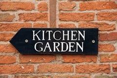 Kuchennego ogródu znak zdjęcia stock